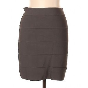 BCBGMAXAZRIA Grayish Green Skirt